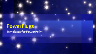 powerpoint template: animated background with rain of stars on, Modern powerpoint